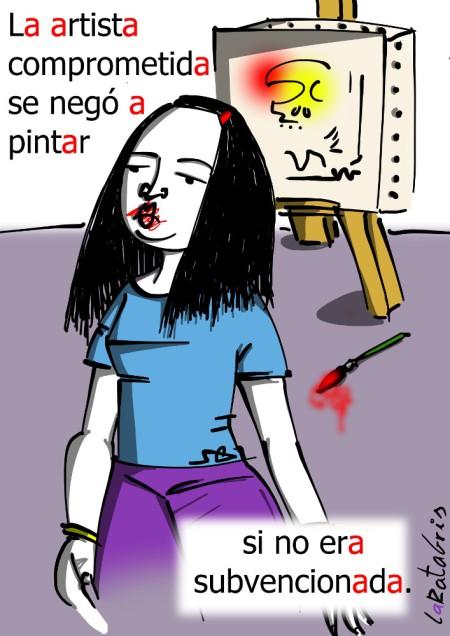 compra_rte: La artista comprometida se negó a pintar si no era subvencionada