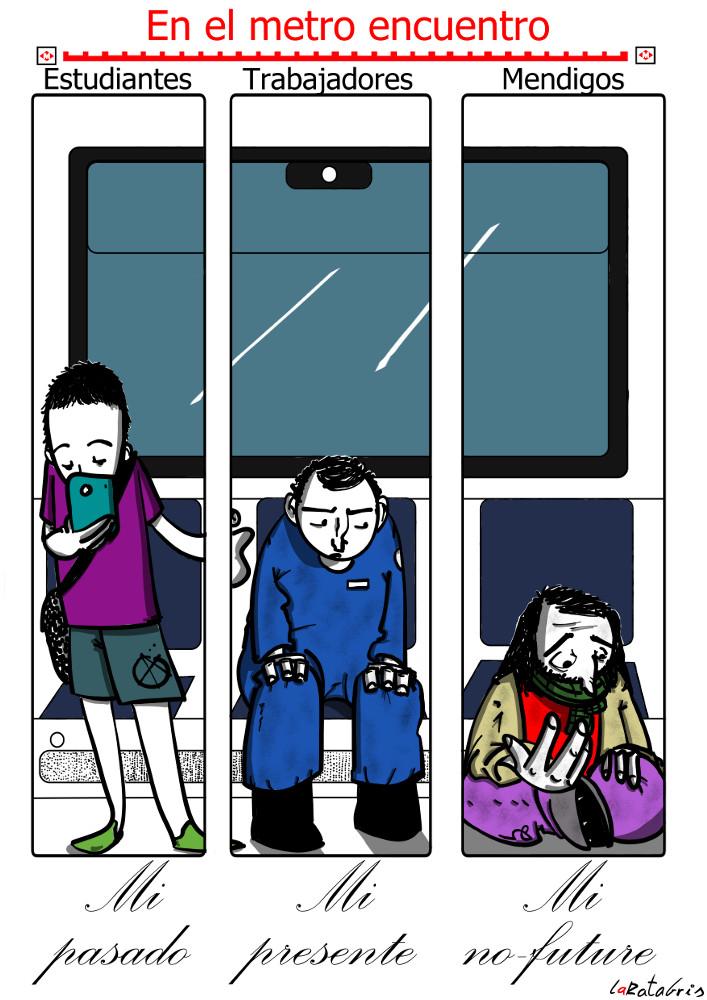 Sin fortunas del metro