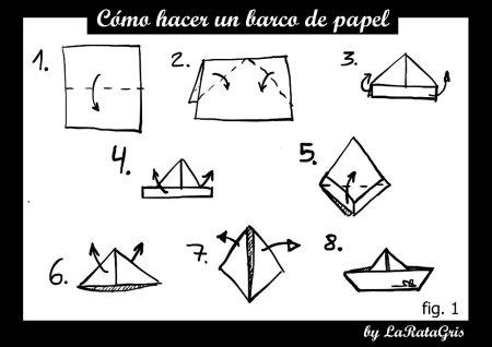 como hacer un barco de papel
