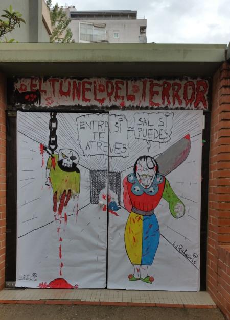 Mural para el túnel del terror