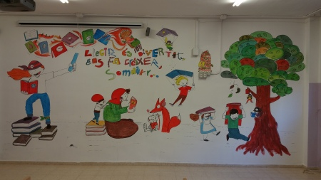 mural biblioteca Folch i Torres
